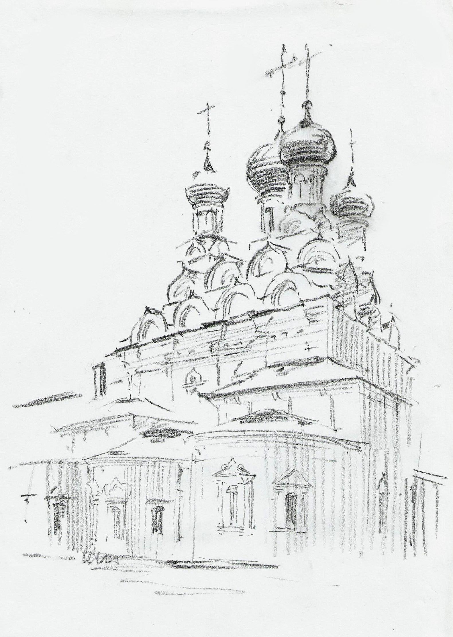 Картинки карандашом россии