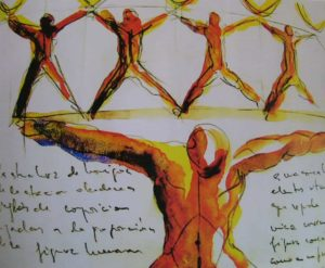 Сантьяго Калатрава. Эскиз человеческой фигуры