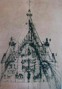 Антонио Гауди. Эскиз собора Саграда Фамилия, Барселона
