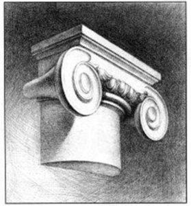 ионическая капитель рисунок