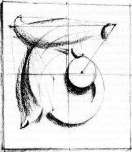 как рисовать гипсовую розетку