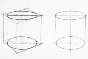 цилиндр рисунок карандашом