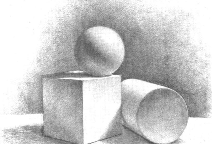 академический рисунок шара карандашом