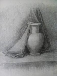 рисование драпировки карандашом
