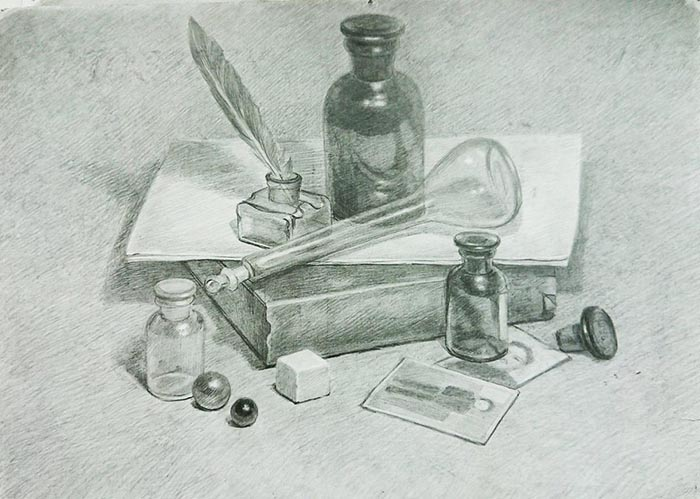 натюрморт рисунок