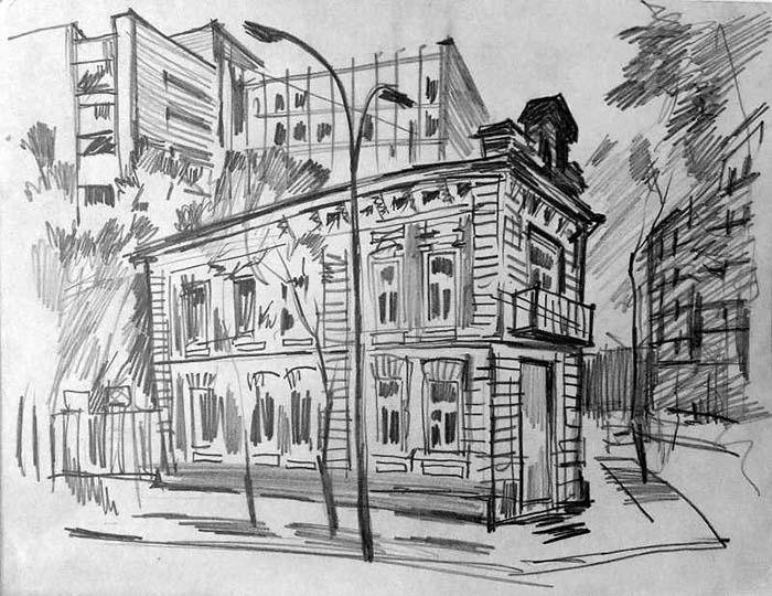 скетчинг городские зарисовки
